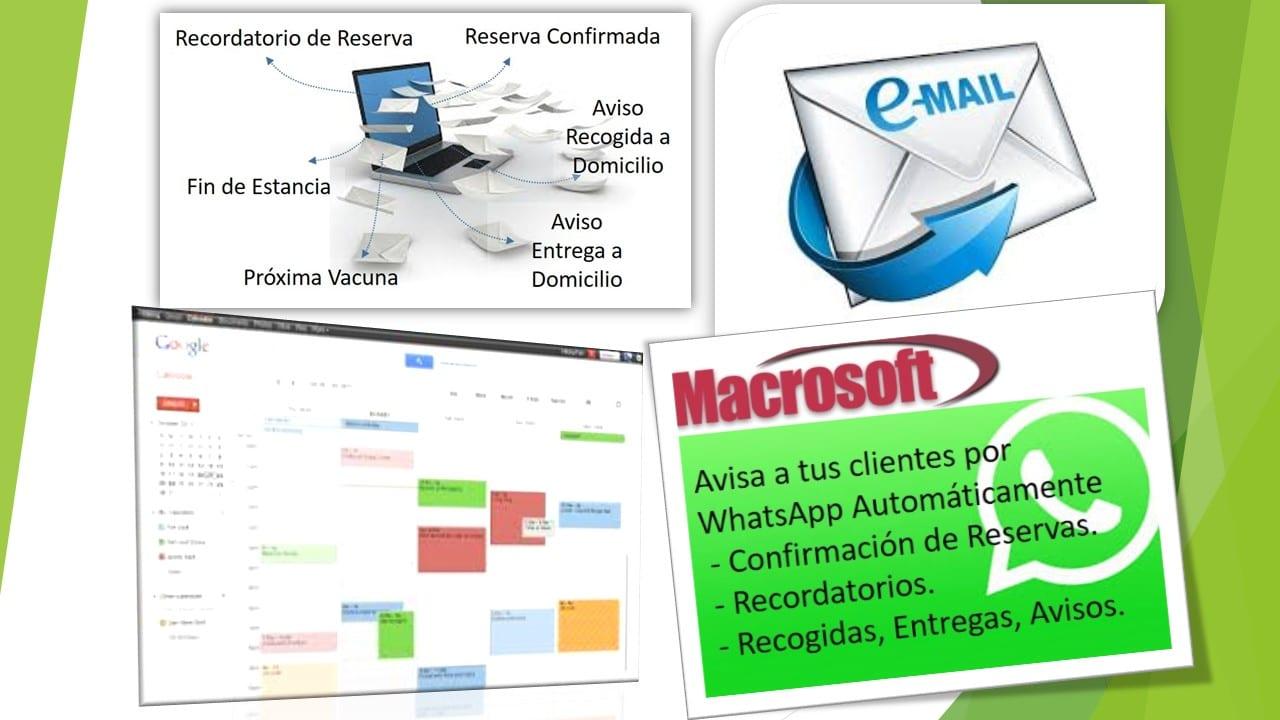 Avisos Agenda WhatsApp Email